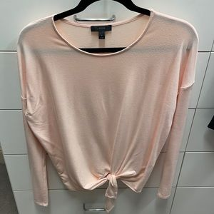 JCrew long sleeve blush pink.